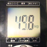 2日間断食前の体重測定
